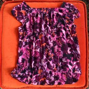a.n.a purple flower top 🌸 size 1x